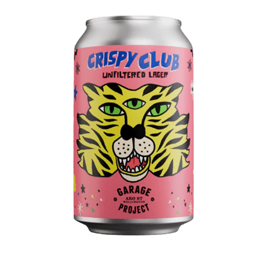 Garage Project Crispy Club Panthera Tigris Unfiltered Lager 330ml Can