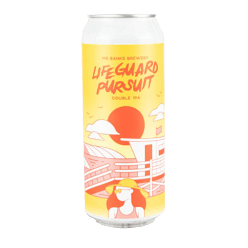 Mr Banks Lifeguard Pursuit Double IPA 500ml Can