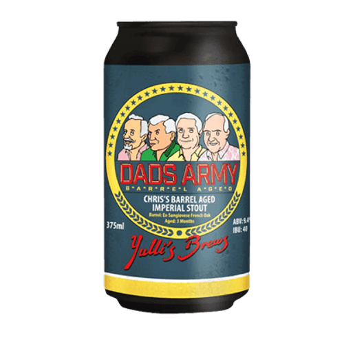 Yulli's Dad's Army Chris's Whiskey Barrel Aged Imperial Stout 375ml Can