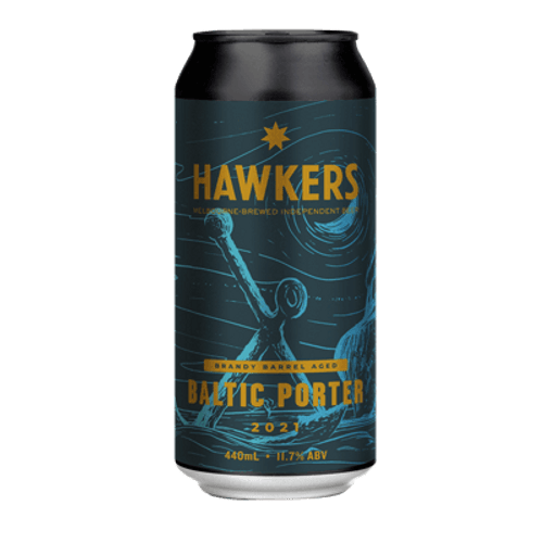 Hawkers Brandy Barrel Aged Baltic Porter 440ml Can