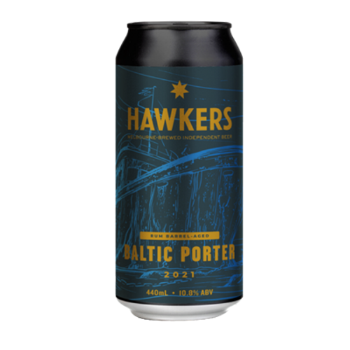 Hawkers Rum Barrel Aged Baltic Imperial Porter 440ml Can