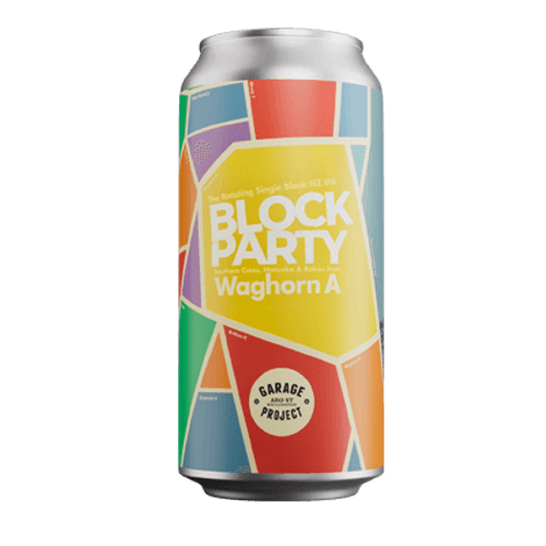 Garage Project Block Party Waghorn A Single Origin NZ Hopped IPA 440ml Can