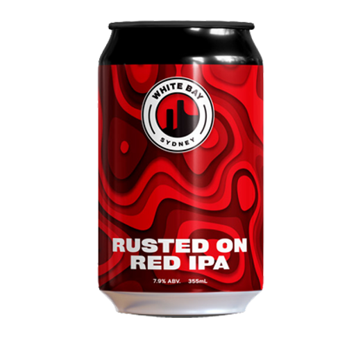 White Bay Rusted On 2.0 Red IPA 355ml Can