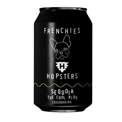Frenchies Hopsters The Cool Kids Sequoia Cascadian Dark IPA 330ml Can
