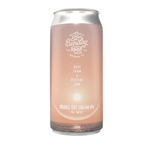 Sunday Road Dust From a Distant Sun Double Oat Cream IPA 440ml Can