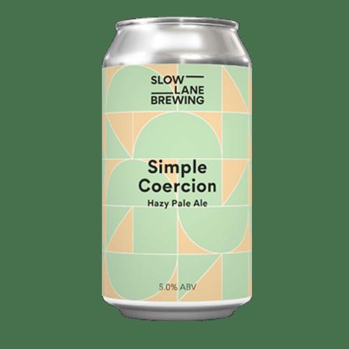 Slow Lane Simple Coercion Hazy Pale Ale 375ml Can