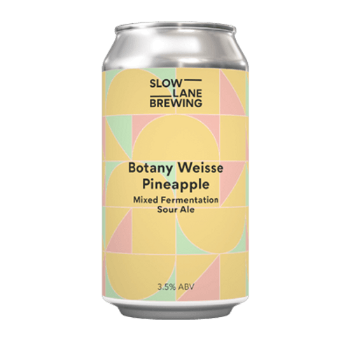 Slow Lane Botany Weisse Pineapple Sour Ale 375ml Can