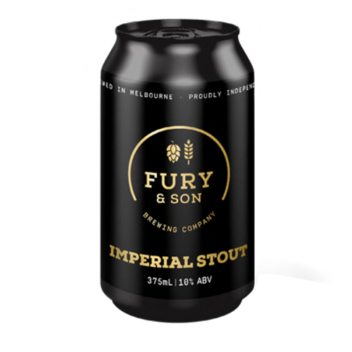 Fury and Son Brewing Imperial Stout 375ml Can