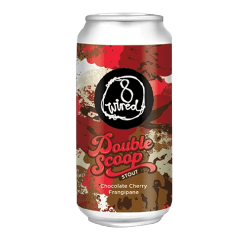 8 Wired Double Scoop Chocolate Cherry Frangipane Stout 440ml Can