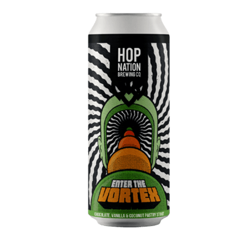 Hop Nation Enter The Vortex Chocolate, Vanilla & Coconut Pastry Stout 440ml Can