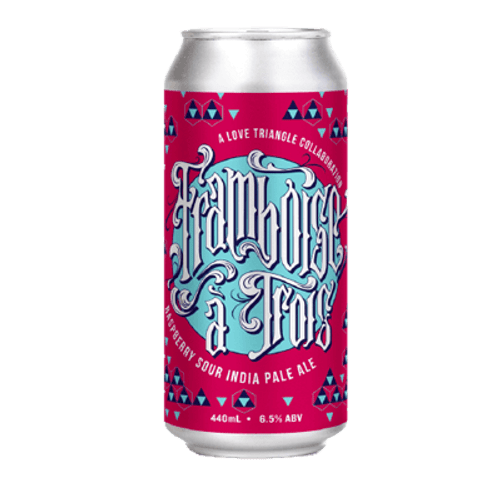 Hawkers Framboise A Trois Raspberry Sour IPA 440ml Can