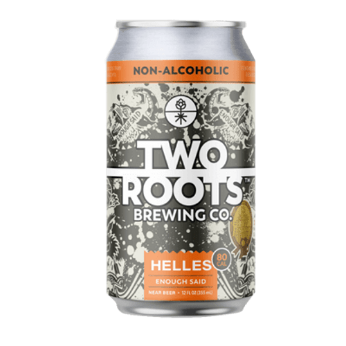 Two Roots Enough Said Non Alcoholic Lager 355ml Can