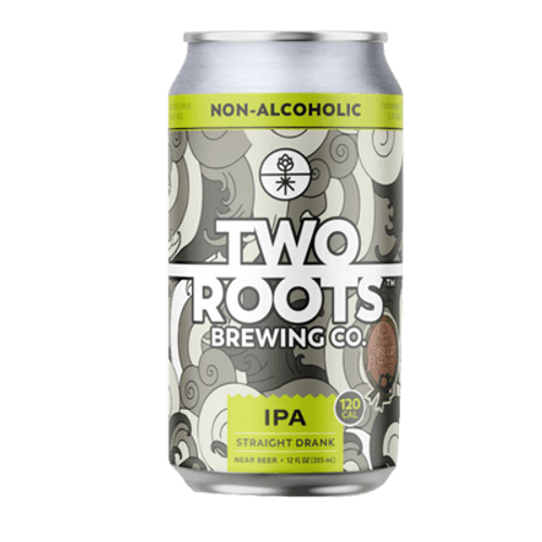 Two Roots Straight Drank IPA Non Alcoholic 355ml Can