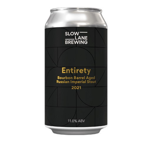 Slow Lane Barrel Aged Entirety Imperial Stout 375ml Can