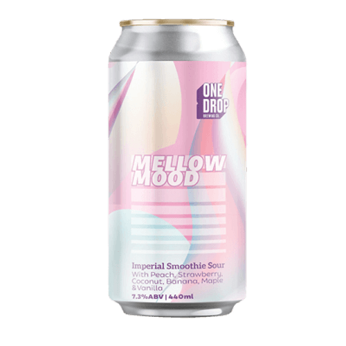 One Drop Mellow Mood Peach Smoothie Sour 440ml Can