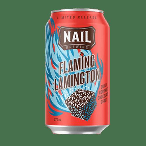 Nail Flaming Lamington 2021 Chilli Coconut Chocolate Stout 375ml Can