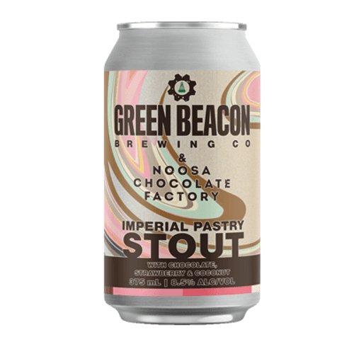 Green Beacon Imperial Pastry Stout With Chocolate, Strawberry & Coconut 375ml Can