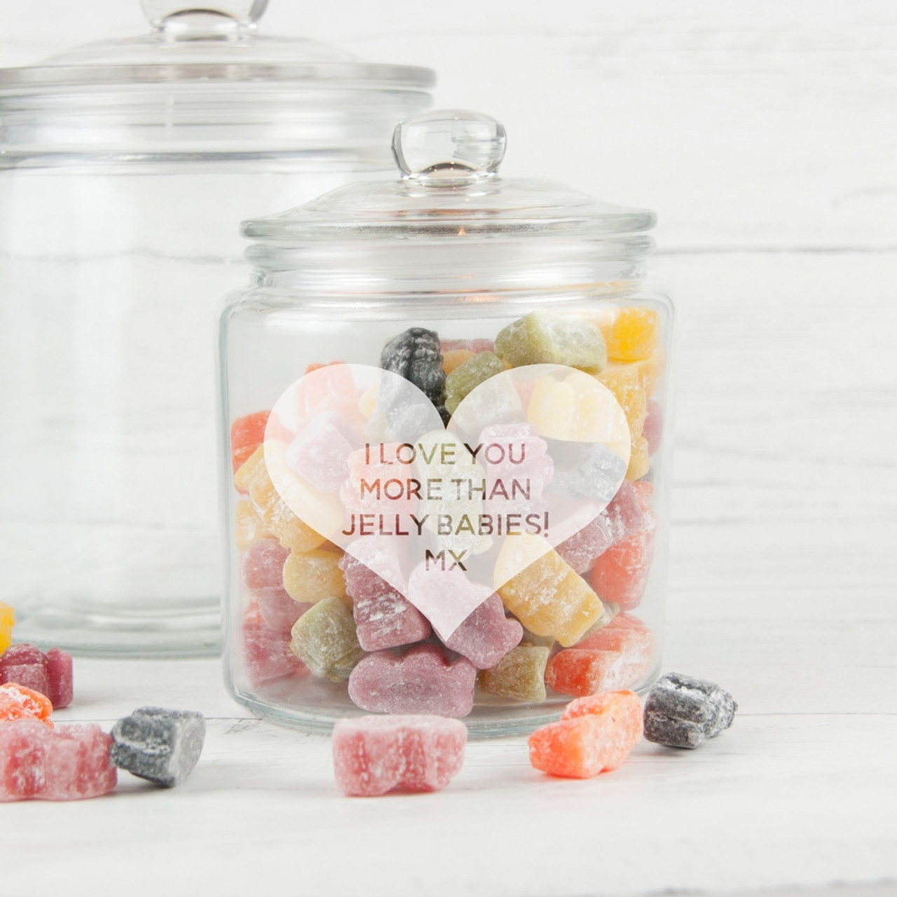 Personalised Laser Engraved Cookie//Sweet//Biscuit Glass Jar 1.9L
