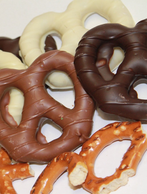 Chocolate-Covered Pretzels - Assorted Chocolates