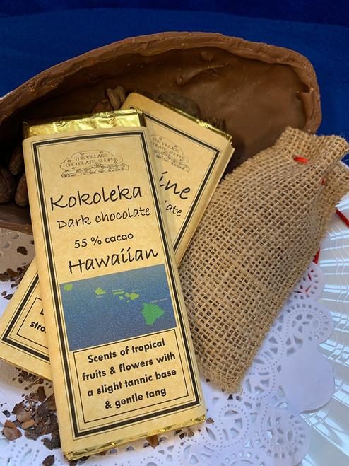 Kokoleka Hawaiian - 55% Cacao Dark Chocolate