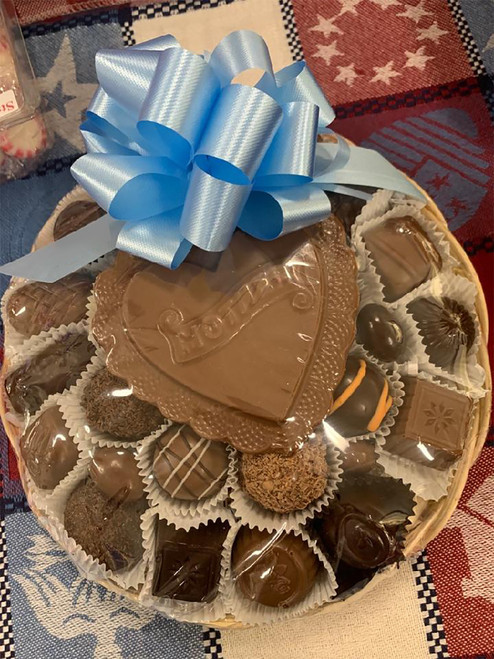 Basket of Chocolates with Chocolate 'Mother' Plaque