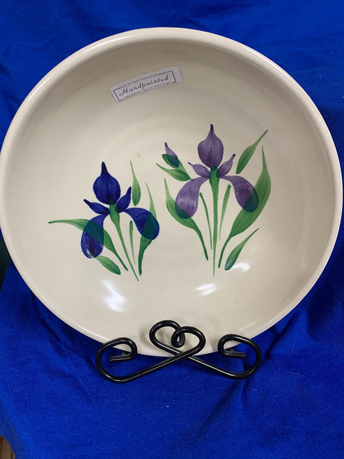Pottery - 8-Inch Bowl - Blue Iris