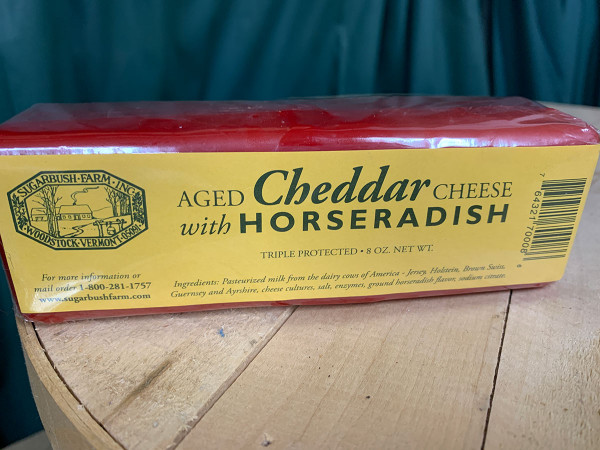 Aged Cheddar Cheese with Horseradish