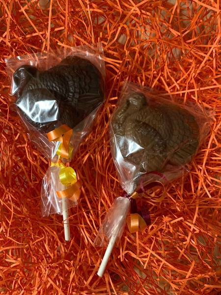 Chocolate Turkey Pops - Large