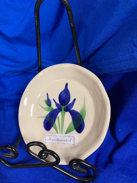 Pottery - 5-1/2 Inch Plate - Blue Iris