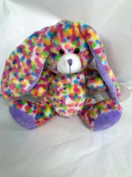 Colorful Plush Easter Bunny