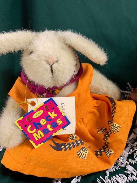 Hoppy Checkmates Plush Bunny