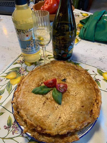 Live from Italy: Cooking Demonstration - Eggplant Pie and Torta Caprese
