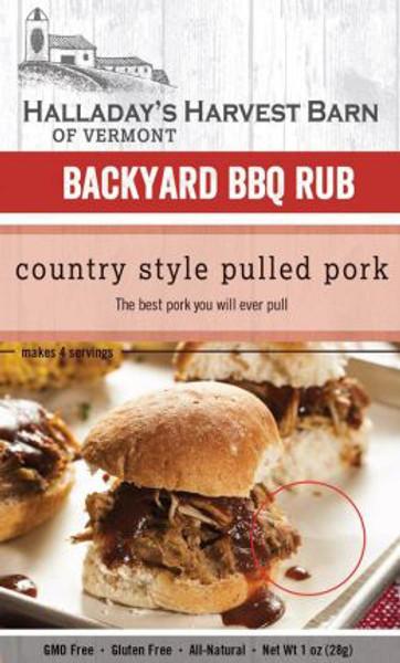Halladay's Harvest Barn Country Style Pulled Pork Backyard BBQ Rub