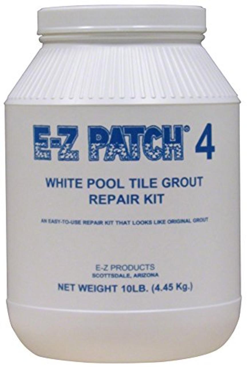 E-Z Products - #4 White Pool Tile Grout Repair 10 lb. - EZP-138