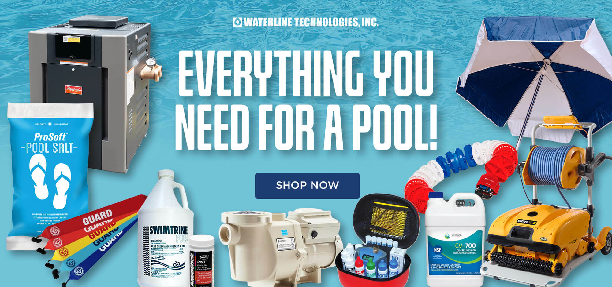 Everything you need for a pool from Waterline Technologies