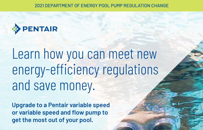 2021 Department of Energy Pool Pump Regulation Change