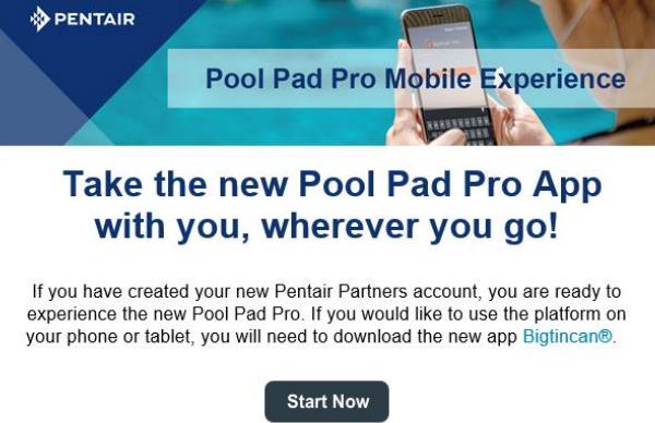 Pentair Mobile App
