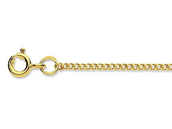 9ct Yellow Gold 16 Curb Chain