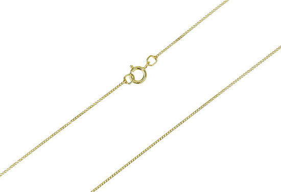 Girl's real 9ct gold 14 inch chain