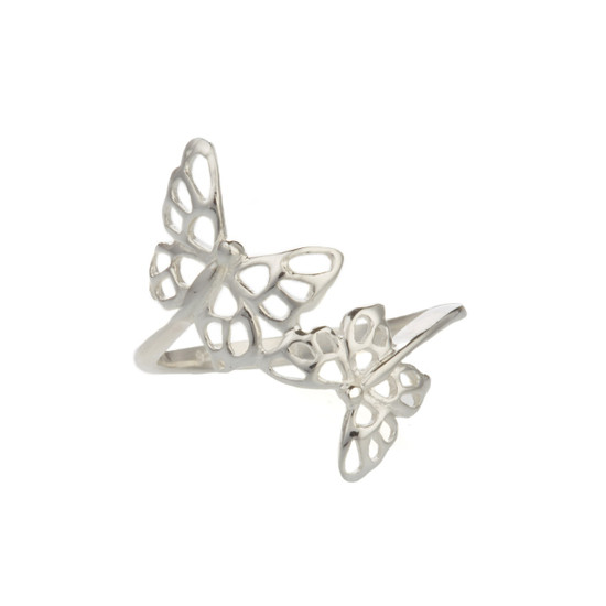 Sterling Silver Filigree style Butterfly Ring
