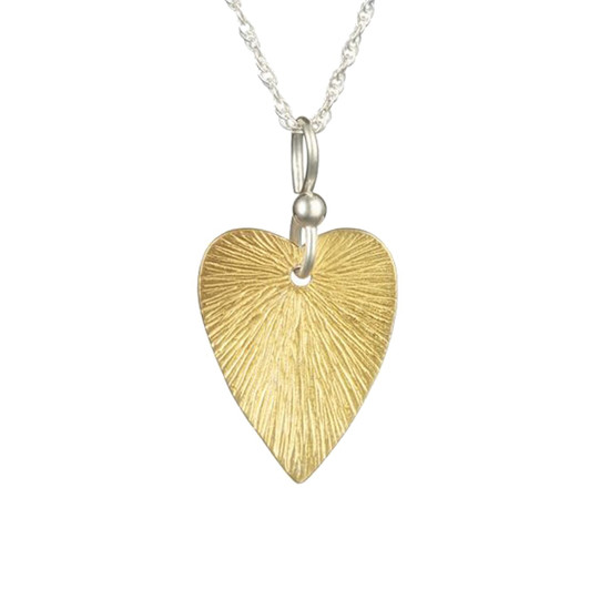 Textured Heart Pendant - Ophir Jewellery