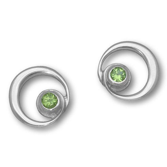 Ortak-Silver-Peridot-Earrings