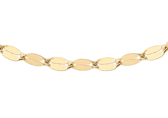 9ct gold forzatina trace chain