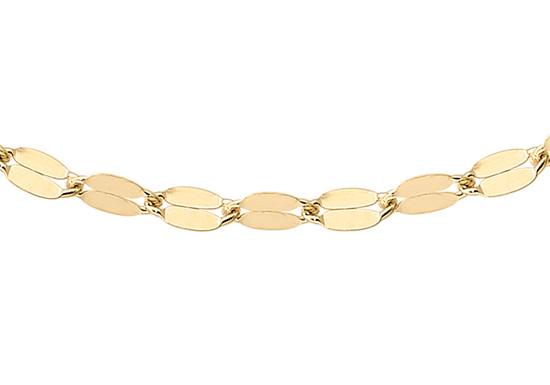 9ct gold forzatina trace chain