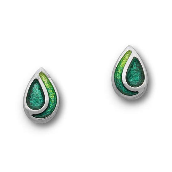 Ortak Cedar Emerald Green Stud Earrings - ee351