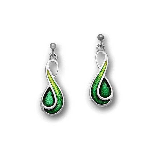 Ortak Cedar Emerald Green Drop Earrings - ee350
