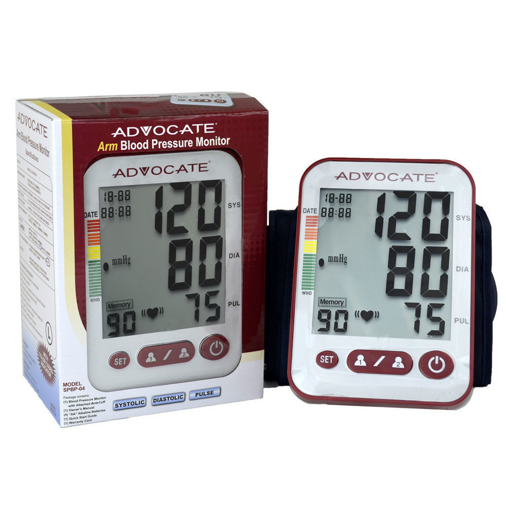 Advocate Arm Blood Pressure Monitor with Extra Large Cuff (894046001530)