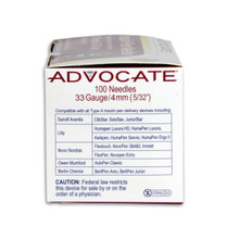 "Advocate Pen Needles - 33G x 4mm 5/32"" 100/box"