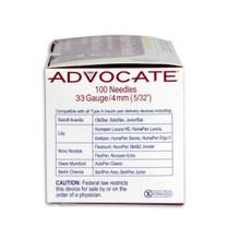 "Advocate Pen Needles - 33G x 4mm 5/32"" 100/box"