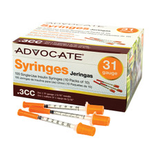 "Advocate Syringes 31G .3cc 5/16"" 100/box (894046001721)"